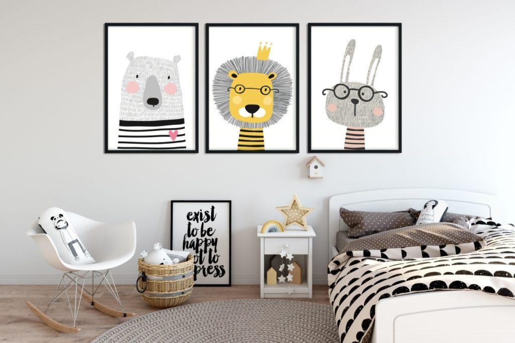 plakaty skandi zwierzaki