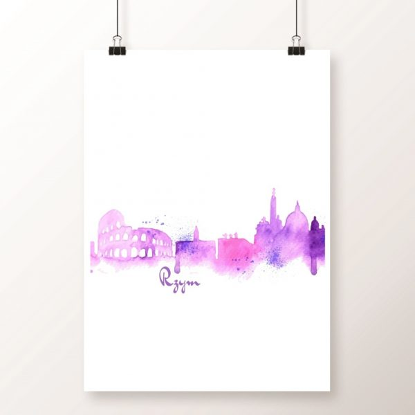plakat panorama ROME