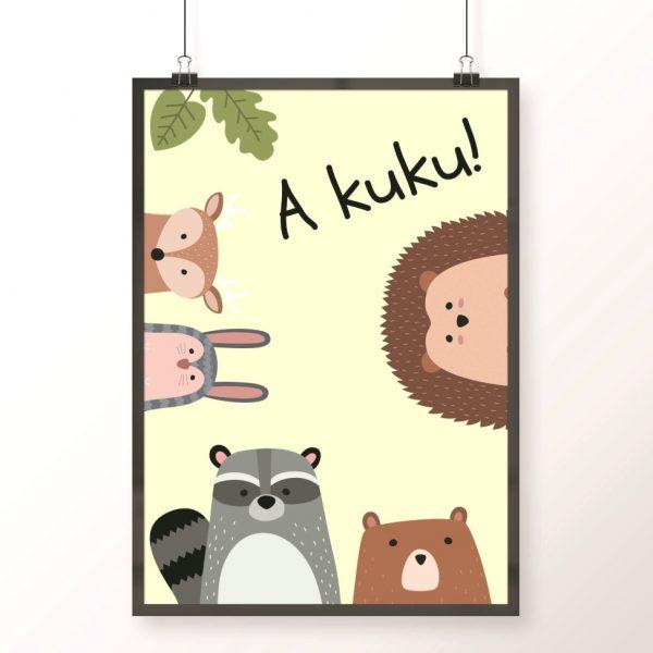 plakat a kuku ze zwierzakami