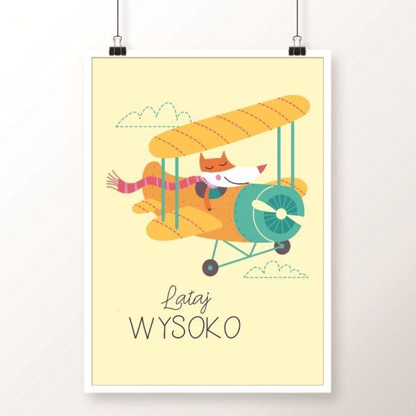 plakat z samolotem
