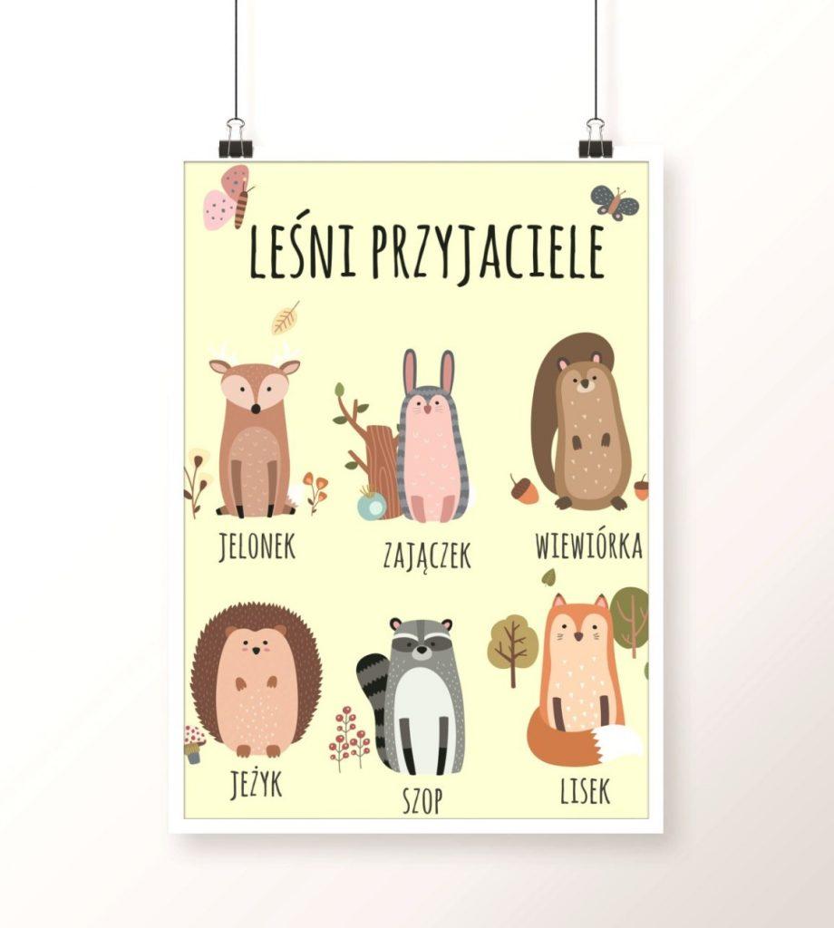 plakat leśne zwierzaki