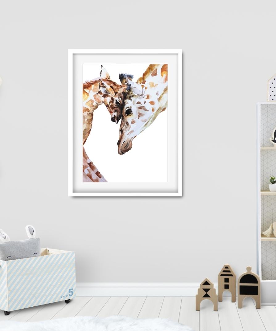 obrazek z żyrafką