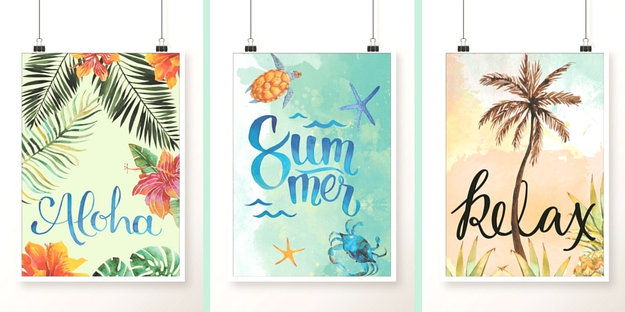 Kolorowe plakaty do druku – NA LATO