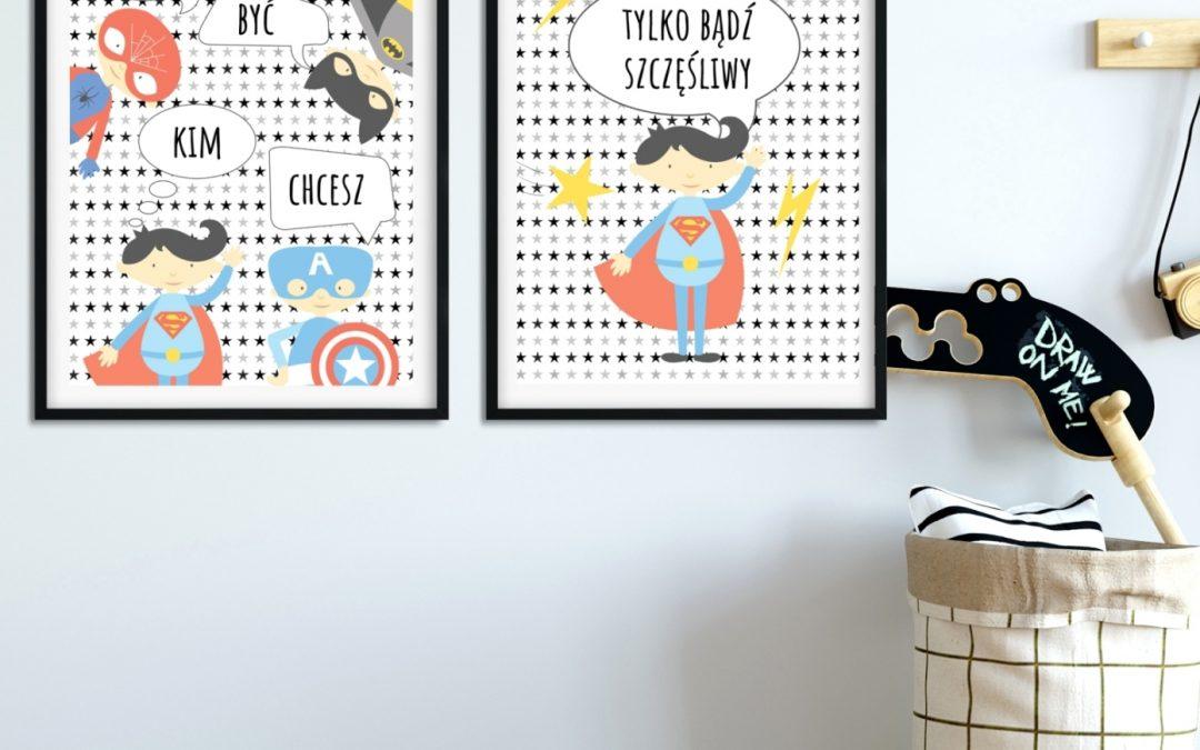 Plakaty z superbohaterami dla dzieci