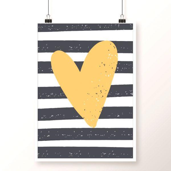 granatowo-żółty plakat
