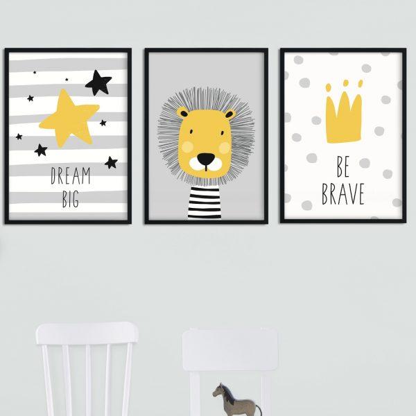 plakaty w skandynawskim stylu dla dzieci