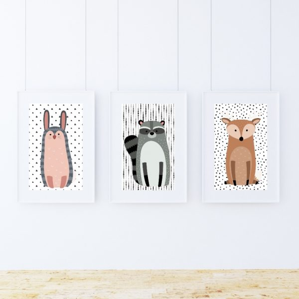 plakat woodland friends