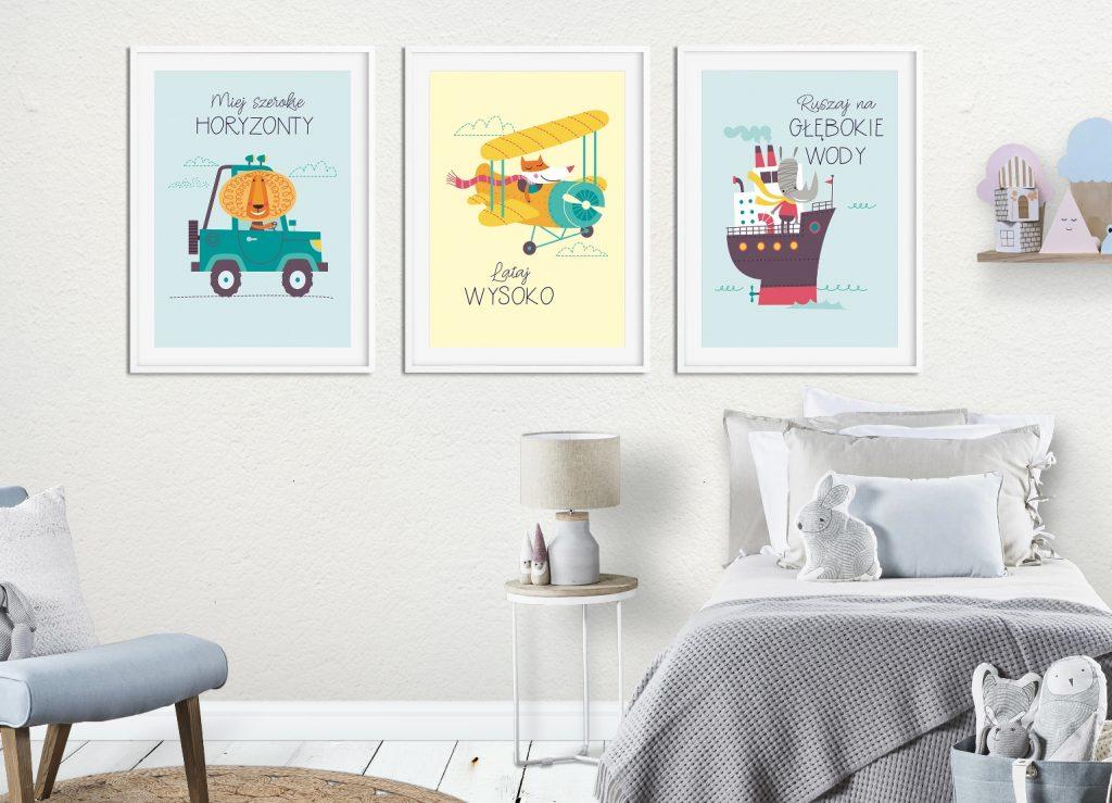 plakaty z pojazdami
