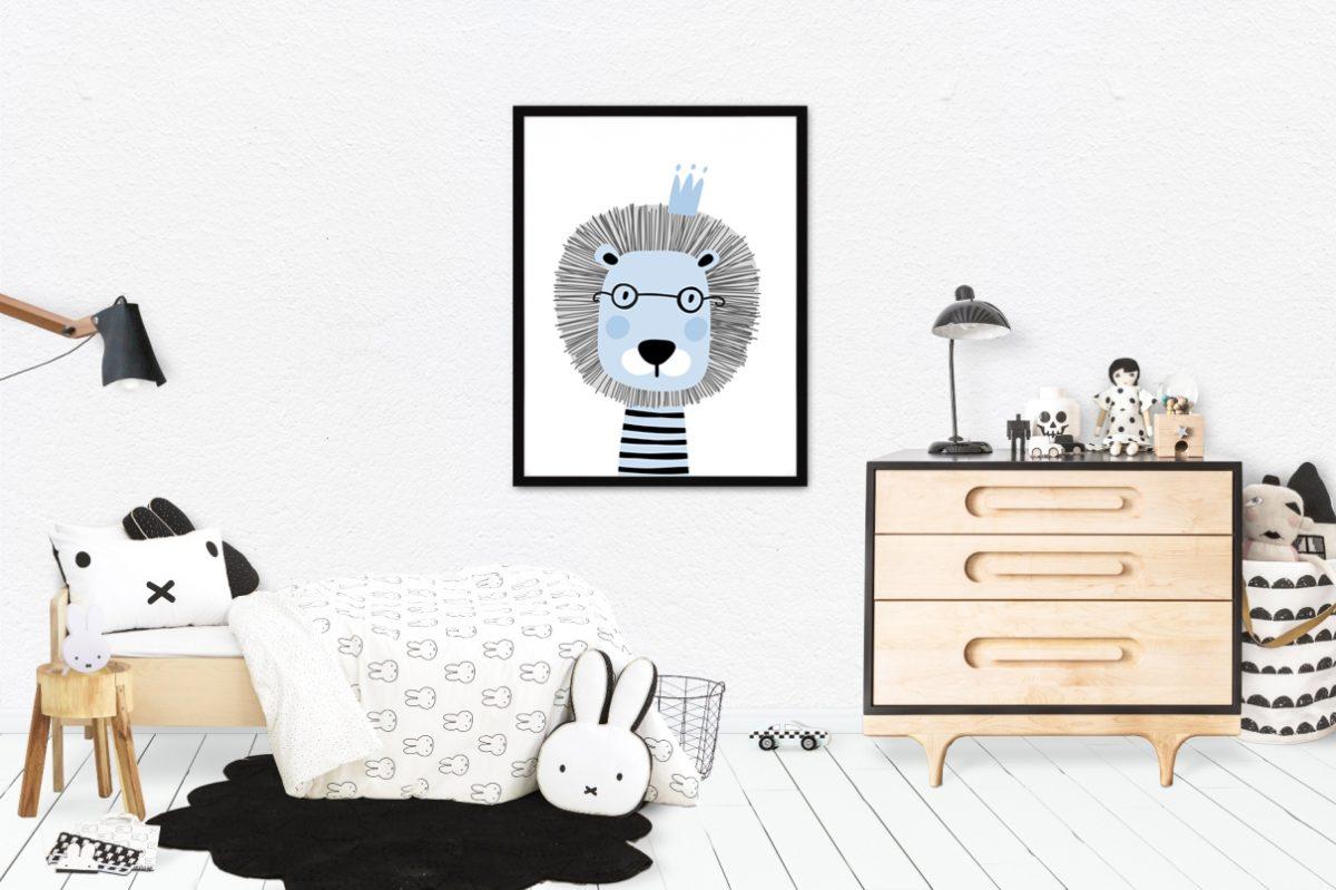 szaro-niebieskie dekoracje dla dzieci