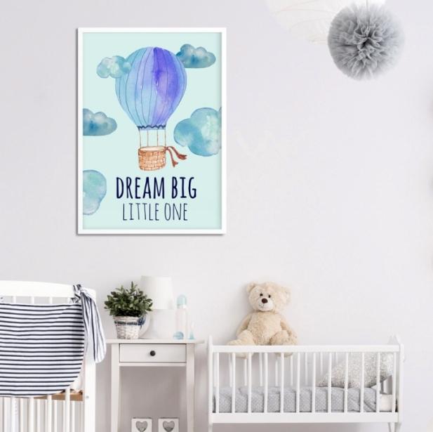 plakat z balonem