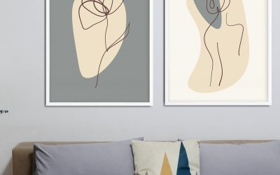Minimalistyczne plakaty – ONE LINE – wiele mówiące linie