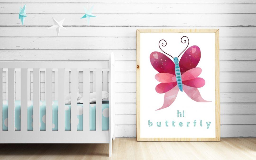 Optymistyczne, różowe plakaty dla dzieci – zestaw do druku