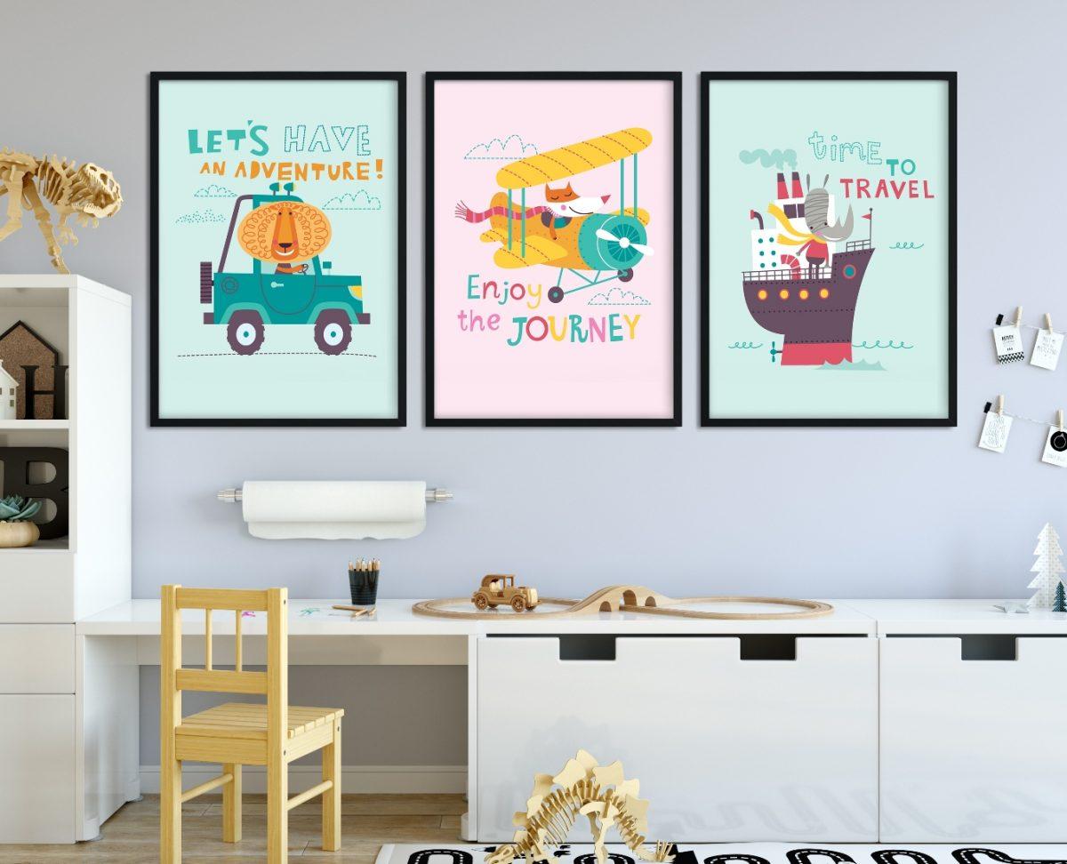 plakat z pojazdami