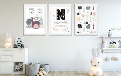Plakat metryczka – pomysł na prezent dla dziecka lub nostalgiczna pamiątka